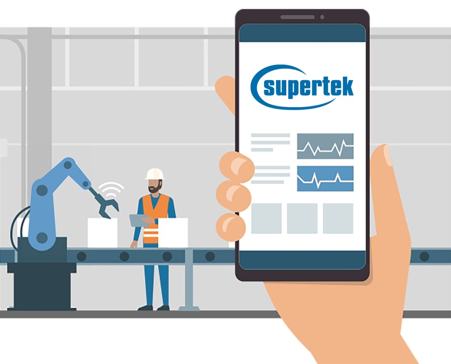 Robot and App as Industry 4.0 digitalisation with Supertek